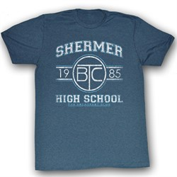 Image of The Breakfast Club T-Shirt Movie Shermer HS Adult Blue Heather Shirt