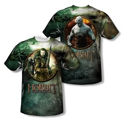 Image of The Hobbit Battle Of The Five Armies Dwarves Vs Azog Sublimation Kids Shirt Front/Back Print