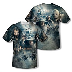 Image of The Hobbit Battle Of The Five Armies Epic Poste Sublimation Kids Shirt Front/Back Print