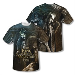 Image of The Hobbit Battle Of The Five Armies King Sublimation Kids Shirt Front/Back Print