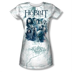 Image of The Hobbit Battle Of The Five Armies Ready For Battle Sublimation Juniors Shirt
