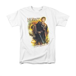 Image of The Hobbit Battle Of The Five Armies Shirt Bilbo Adult White Tee T-Shirt