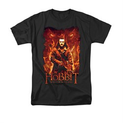 Image of The Hobbit Battle Of The Five Armies Shirt Fates Adult Black Tee T-Shirt