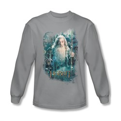 The Hobbit Battle Of The Five Armies Shirt Gandalf's Army Long Sleeve Silver Tee T-Shirt