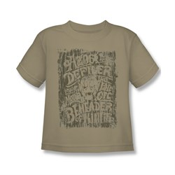 Image of The Hobbit Battle Of The Five Armies Shirt Kids Azog 2 Sand Youth Tee T-Shirt
