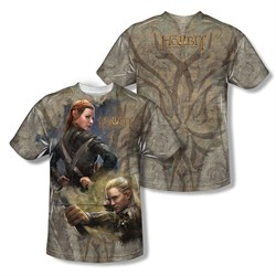 Image of The Hobbit Desolation Of Smaug Elves Sublimation Kids Shirt Front/Back Print