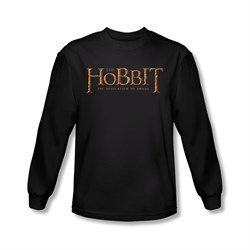 The Hobbit Desolation Of Smaug Shirt Desolation Of Smaug Logo Long Sleeve Black Tee T-Shirt