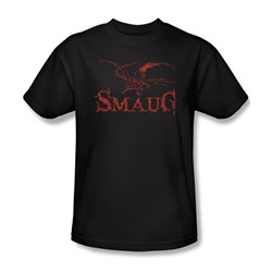 The Hobbit Desolation Of Smaug Shirt Dragon Adult Black Tee T-Shirt