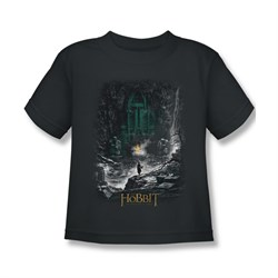 Image of The Hobbit Desolation Of Smaug Shirt Kids Second Thoughts Charcoal Youth Tee T-Shirt