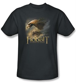 Image of The Hobbit Kids Shirt Movie Unexpected Journey Eagle Charcoal Tee