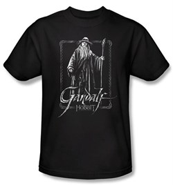 Image of The Hobbit Kids Shirt Movie Unexpected Journey Gandalf Black T-Shirt