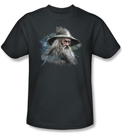 Image of The Hobbit Kids Shirt Movie Unexpected Journey Gandalf Charcoal Tee
