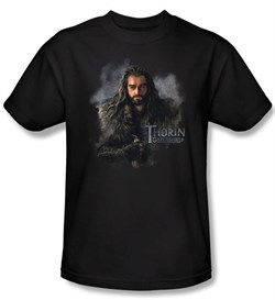 Image of The Hobbit Shirt Movie Unexpected Journey Thorin Adult Black Tee