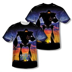 Image of The Iron Giant Giant Poster Sublimation Kids Shirt Front/Back Print