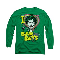 The Joker Shirt Bad Boys Long Sleeve Kelly Green Tee T-Shirt