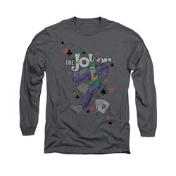 The Joker Shirt Big Step Long Sleeve Charcoal Tee T-Shirt