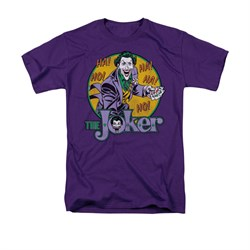 The Joker Shirt Cards Purple T-Shirt
