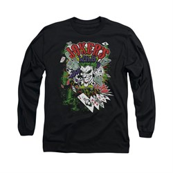 The Joker Shirt Jokers Wild Long Sleeve Black Tee T-Shirt