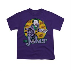 The Joker Shirt Kids Cards Purple T-Shirt