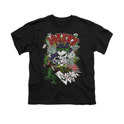The Joker Shirt Kids Jokers Wild Black T-Shirt