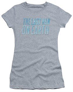 Image of The Last Man On Earth Juniors Shirt Logo Athletic Heather T-Shirt