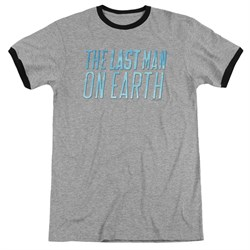 Image of The Last Man On Earth Logo Athletic Heather Ringer Shirt