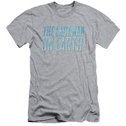 Image of The Last Man On Earth Slim Fit Shirt Logo Athletic Heather T-Shirt