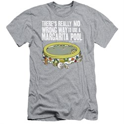 Image of The Last Man On Earth Slim Fit Shirt Margarita Pool Athletic Heather T-Shirt
