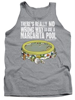 Image of The Last Man On Earth Tank Top Margarita Pool Athletic Heather Tanktop