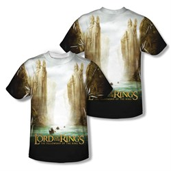 Image of The Lord Of The Rings Fellowship Poster Sublimation Kids Shirt Front/Back Print
