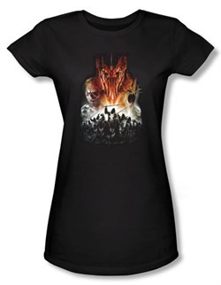 The Lord Of The Rings Juniors T-Shirt Evil Rising Black Tee Shirt