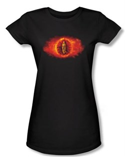 The Lord Of The Rings Juniors T-Shirt Eye Of Sauron Black Tee Shirt