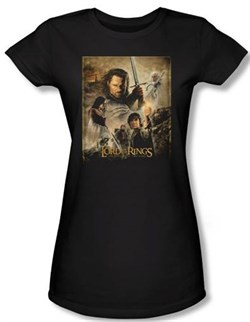 Lord Of The Rings Juniors T-Shirt Return Of The King Movie Poster Tee