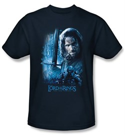 The Lord Of The Rings Kids T-Shirt Aragorn Navy Blue Tee Shirt Youth