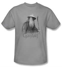 The Lord Of The Rings Kids T-Shirt Gandalf The Grey Silver Shirt Youth