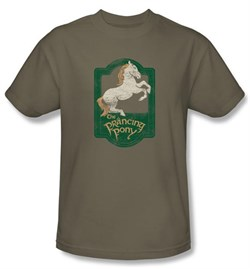 Lord Of The Rings Kids T-Shirt Prancing Pony Youth Safari Green Tee
