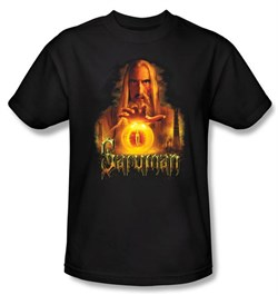 The Lord Of The Rings Kids T-Shirt Saruman Black Tee Shirt Youth