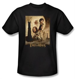 The Lord Of The Rings Kids T-Shirt Towers Movie Poster Black Youth Tee