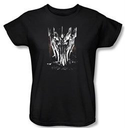The Lord Of The Rings Ladies T-Shirt Big Sauron Head Black Shirts