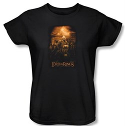 The Lord Of The Rings Ladies T-Shirt Riders Of Rohan Black Tee Shirt