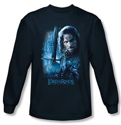 The Lord Of The Rings Long Sleeve T-Shirt Aragorn Navy Blue Tee Shirt