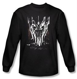 The Lord Of The Rings Long Sleeve T-Shirt Big Sauron Head Black Shirts