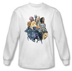 The Lord Of The Rings Long Sleeve T-Shirt Collage Of Evil White Shirt