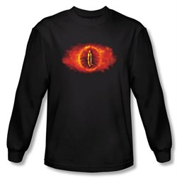 Lord Of The Rings Long Sleeve T-Shirt Eye Of Sauron Black Tee