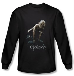 The Lord Of The Rings Long Sleeve T-Shirt Gollum Black Tee Shirt