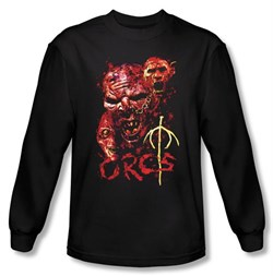 The Lord Of The Rings Long Sleeve T-Shirt ORCS Black Tee Shirt