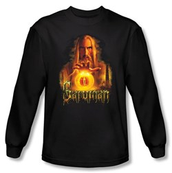 The Lord Of The Rings Long Sleeve T-Shirt Saruman Black Tee Shirt