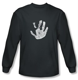 Lord Of The Rings Long Sleeve T-Shirt White Hand Of Saruman Charcoal
