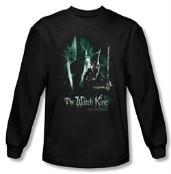 The Lord Of The Rings Long Sleeve T-Shirt Witch King Black Tee Shirt