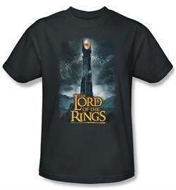 The Lord Of The Rings T-Shirt Eye Of Sauron Adult Charcoal Tee Shirt